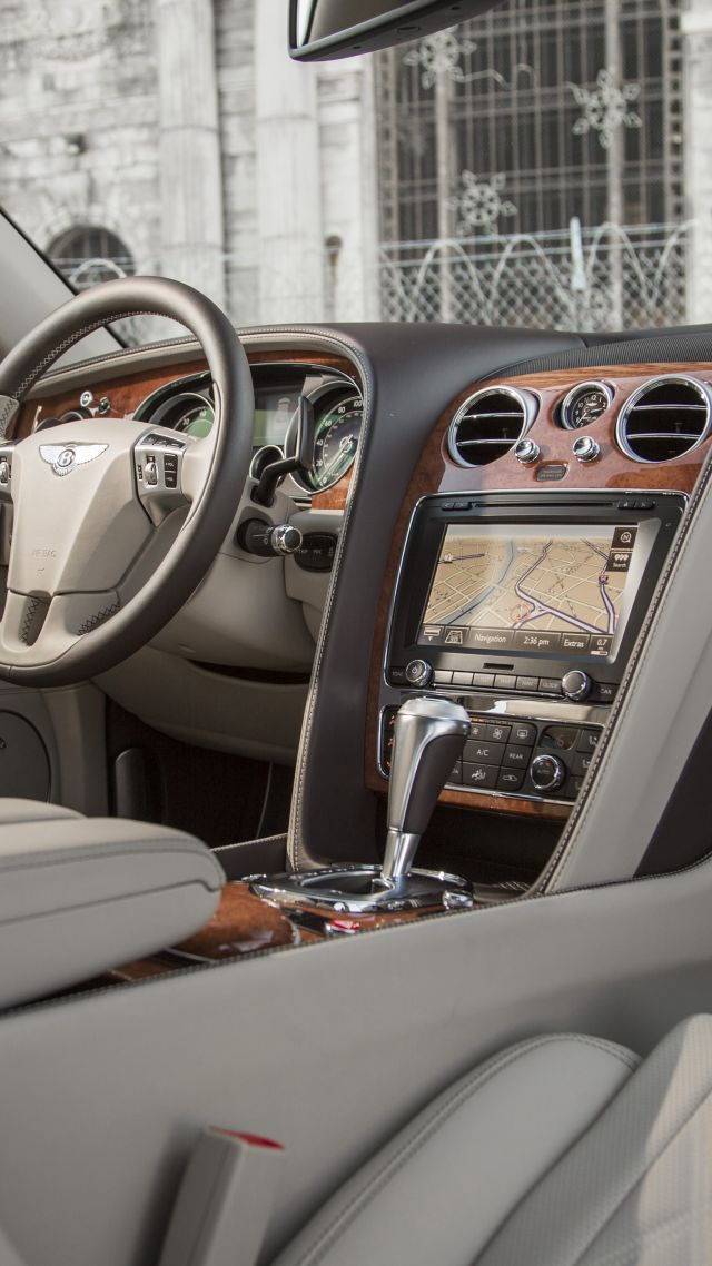Bentley Flying Spur, sedan, luxery, interior. (vertical)