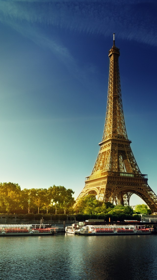 Paris, Eiffel Tower, France, autumn, travel, tourism (vertical)