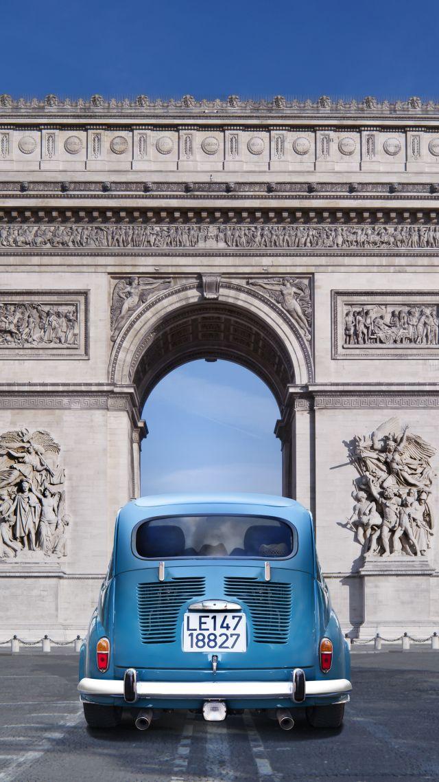 wallpaper paris france arc de triomphe monument travel tourism car architecture 6493. Black Bedroom Furniture Sets. Home Design Ideas