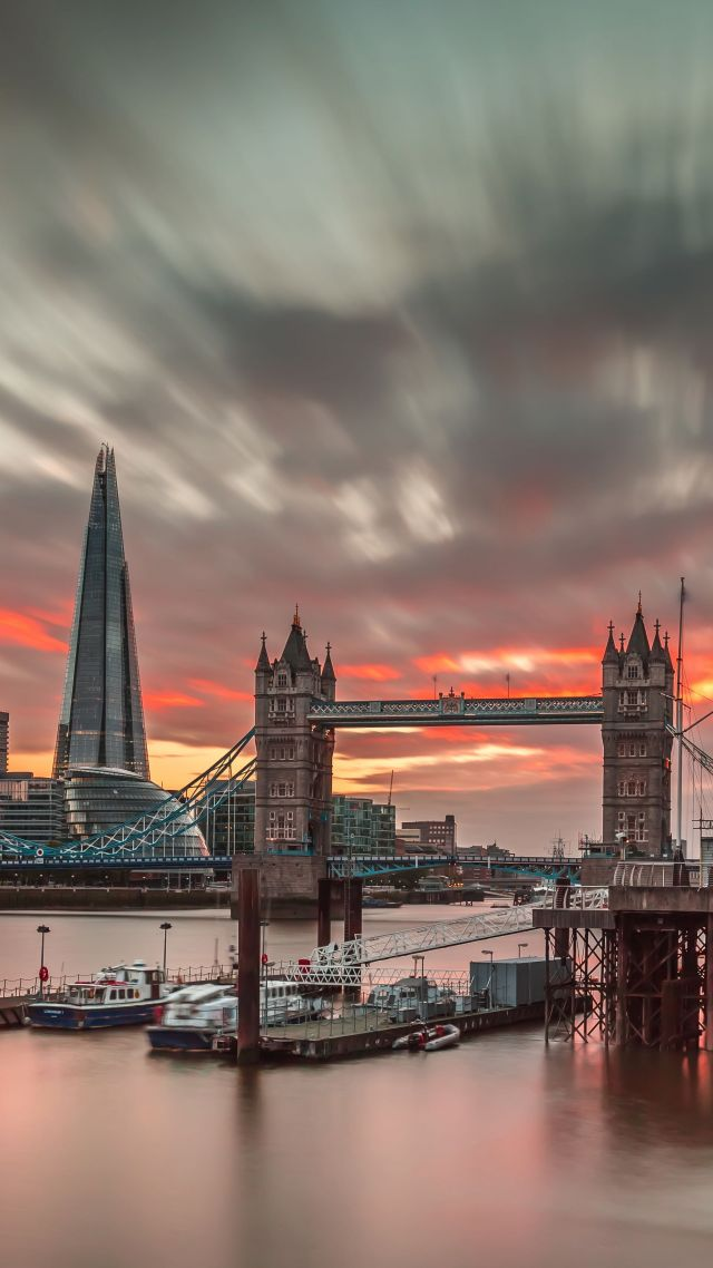 London, England, travel, tourism, sunset (vertical)