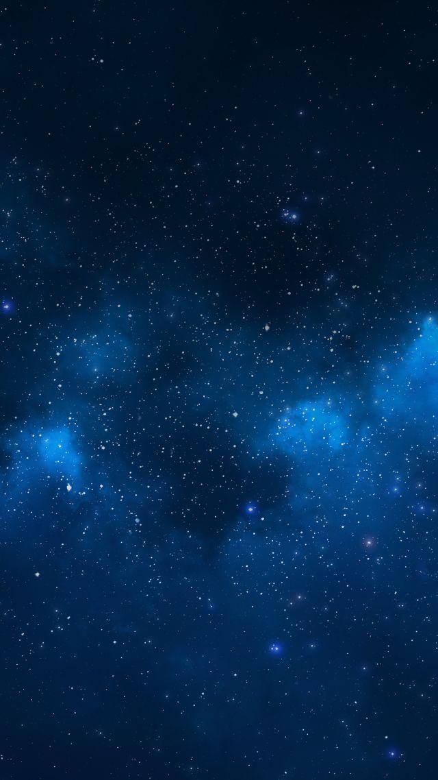 Nebula Space Stars 4k Vertical