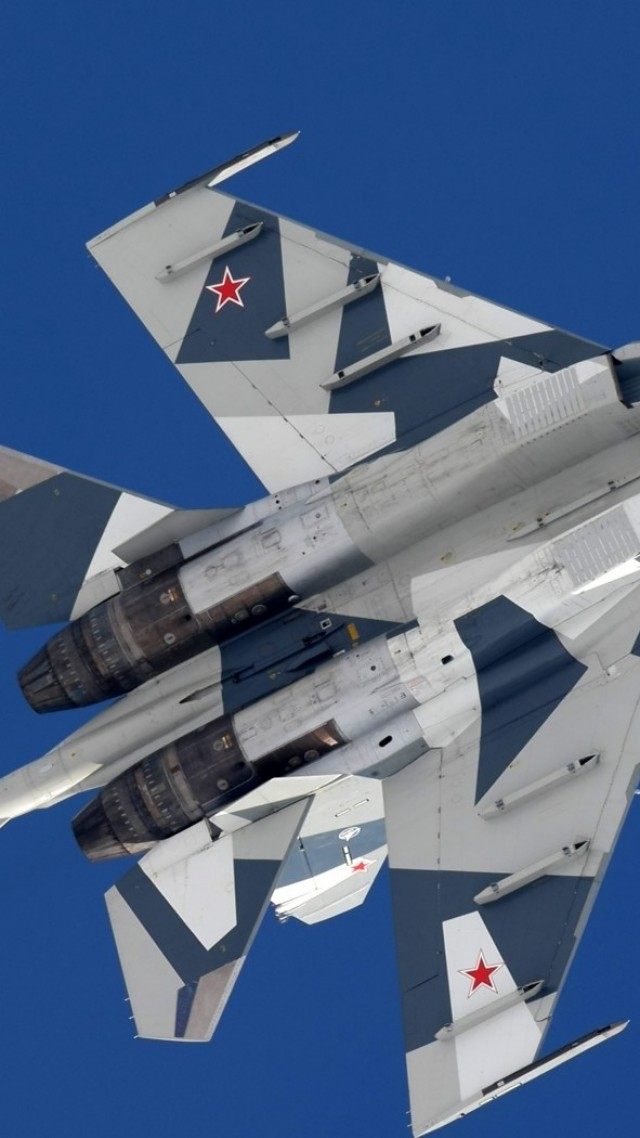 Su-35C, fighter, Russian Army (vertical)