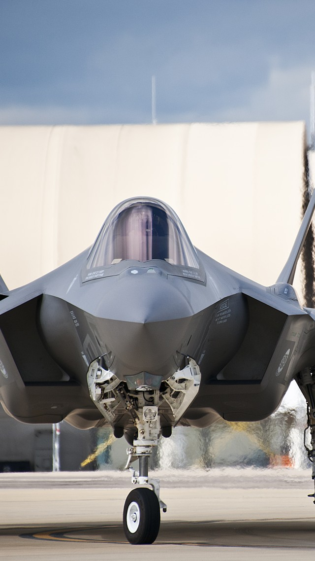 F-35, Lightning II, Lockheed, fighter, US Army, U.S. Air Force (vertical)