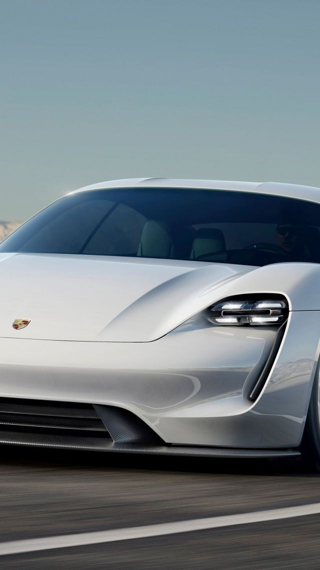 Porsche Taycan, Electric Cars, supercar, 800v, white (vertical)