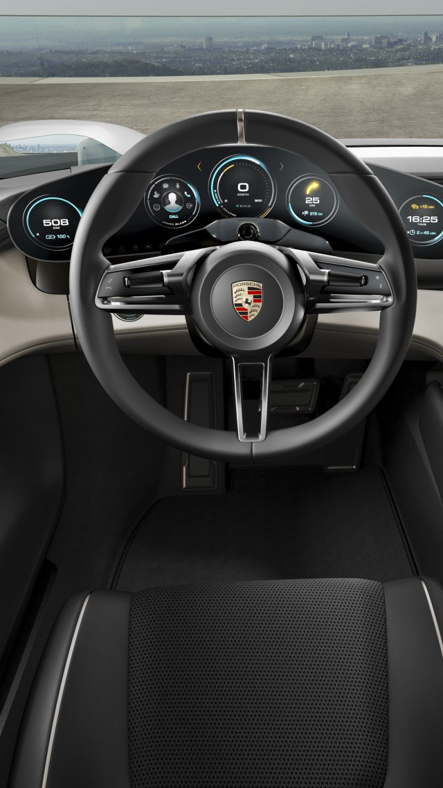 Porsche Taycan, Electric Cars, supercar, 800v, interior (vertical)