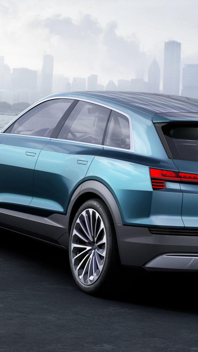 Wallpaper Audi E Tron Quattro Electric Cars Suv Green