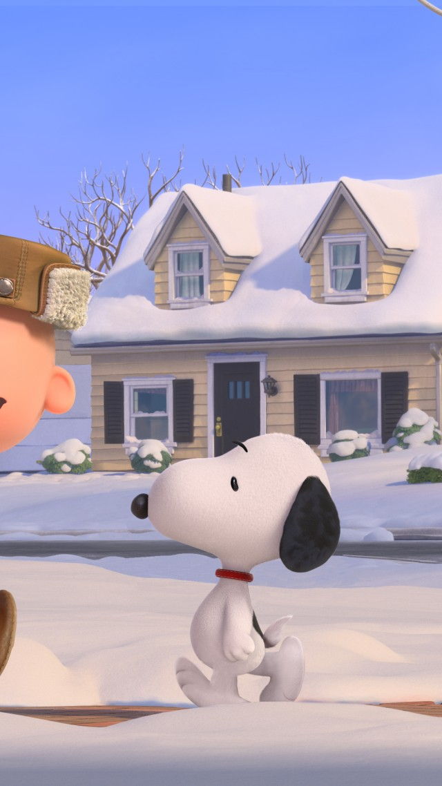 The Peanuts Movie, Snoopy, Charlie Brown, winter (vertical)