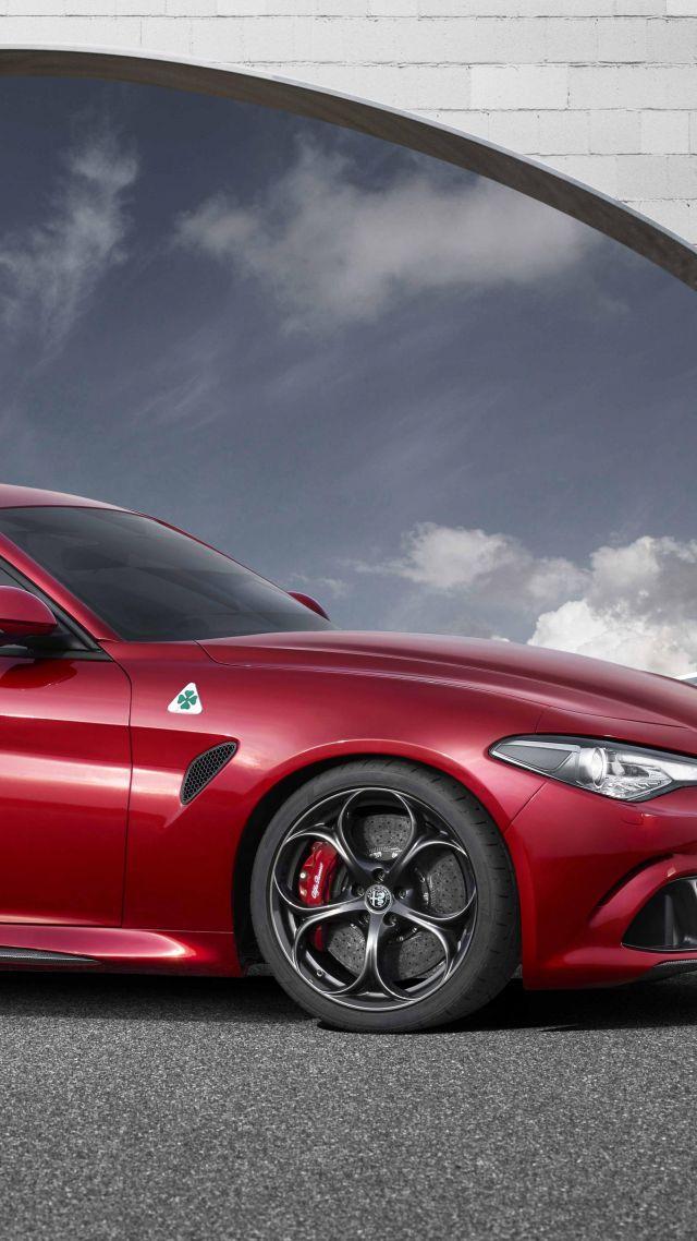 Wallpaper Alfa Romeo Giulia, Red, Cars & Bikes #7352