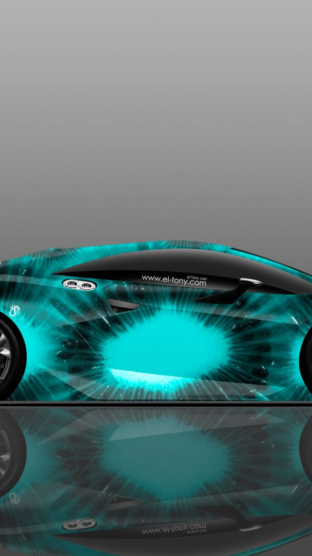 ... Lamborghini Elemento, Supercar, Blue (vertical)