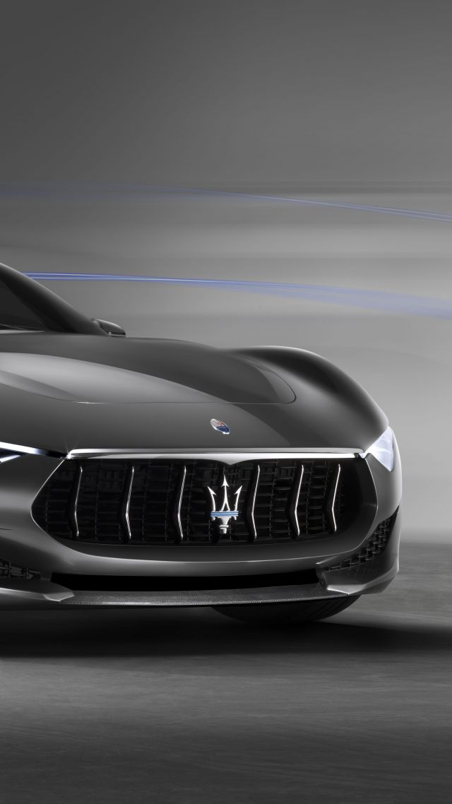 Fastest Car In The World 2015 >> Wallpaper Maserati Alfieri, supercar, Maserati, luxury cars, sports car, speed, concept, side ...