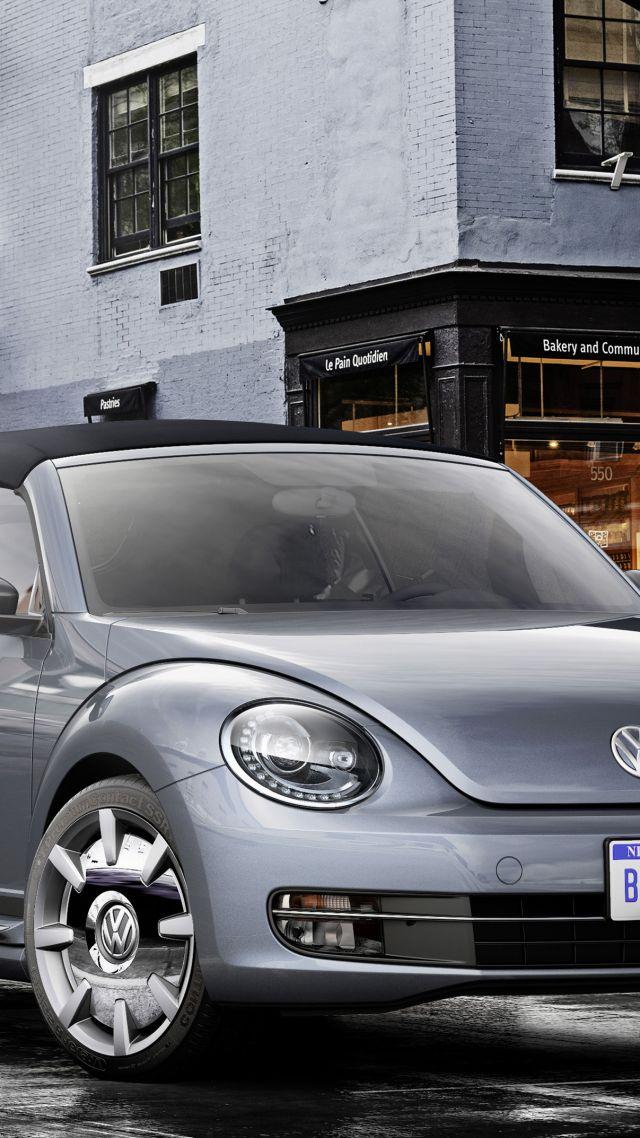 wallpaper volkswagen beetle cabriolet concept grey cars  cars bikes