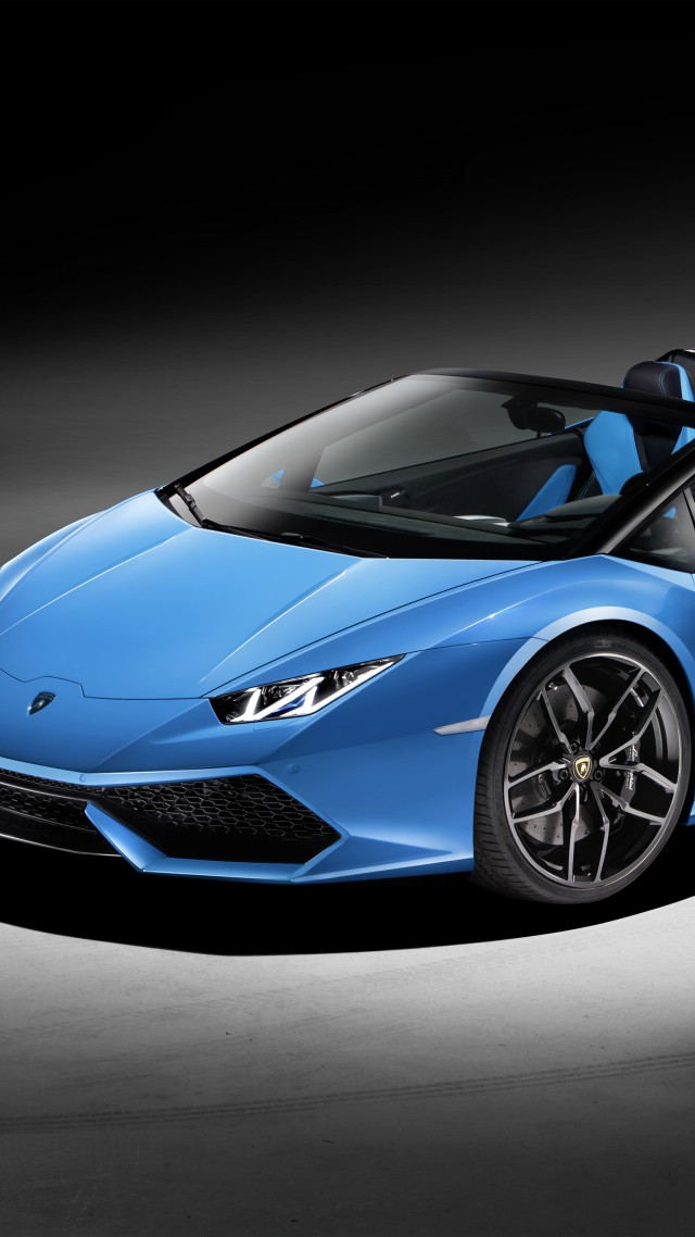 Lamborghini Huracan LP610-4 Spyder, supercar, blue, luxury cars, sports car, test drive (vertical)