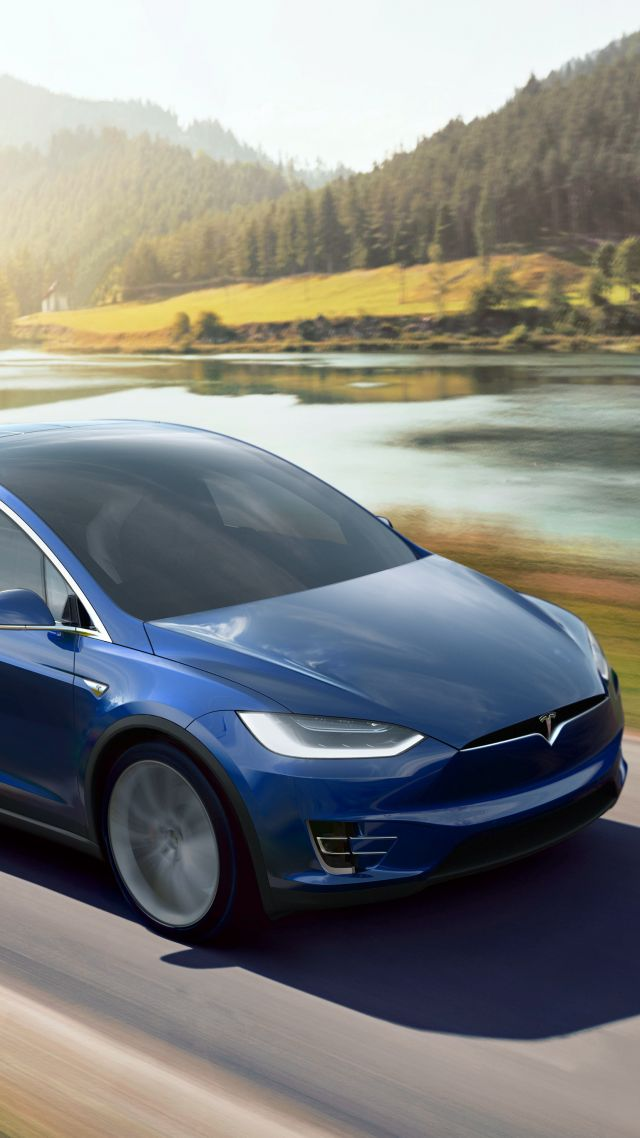 Tesla Model X P90D, electric cars, suv, 2016 (vertical)