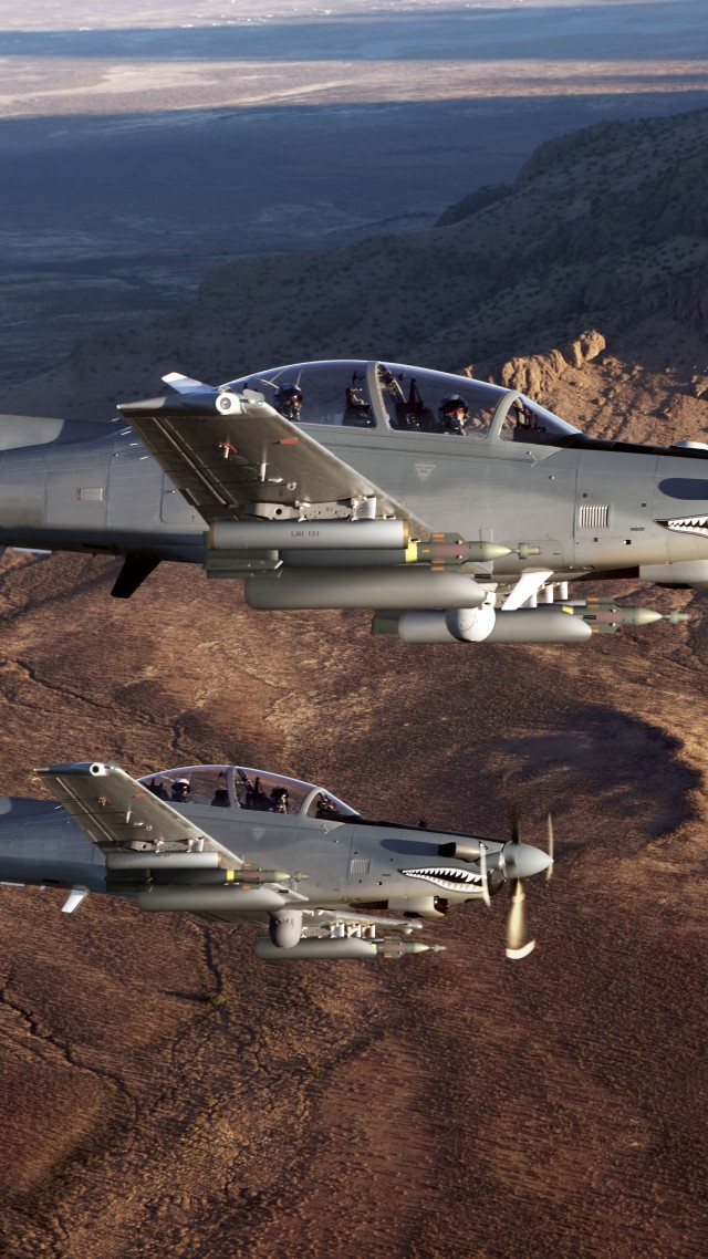 Beechcraft AT-6, Light Attack Aircraft, USA army, fighter aircraft, air force, USA (vertical)