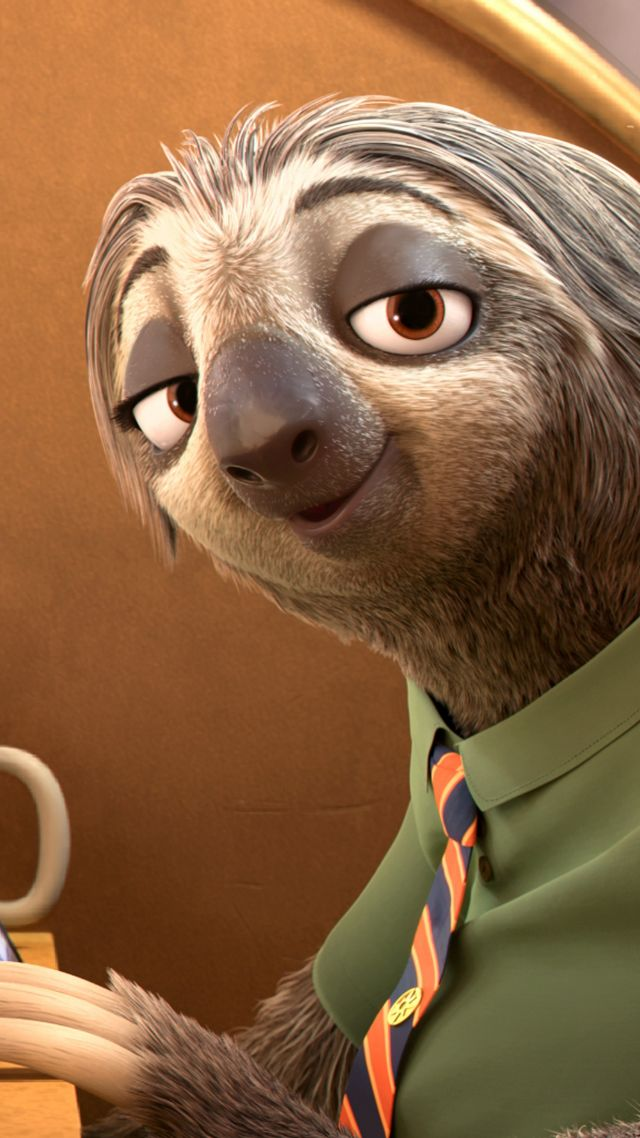 Zootopia, sloth, Best Animation Movies of 2016, cartoon (vertical)