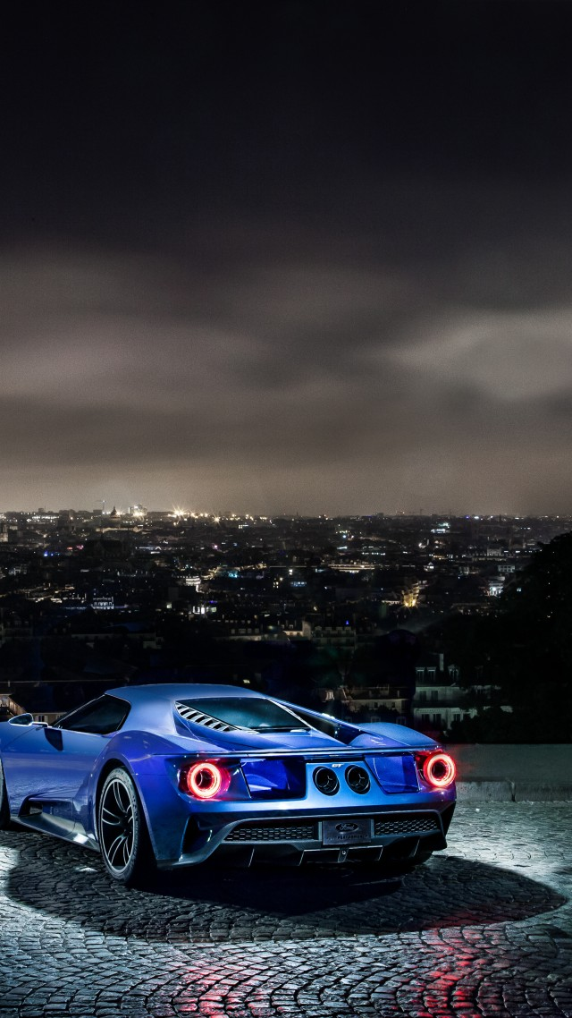 Wallpaper Ford Gt Supercar Concept Blue Sports Car Luxury