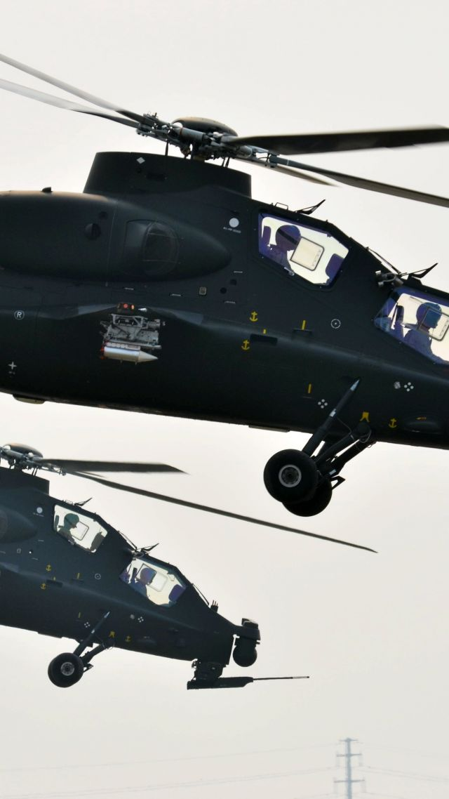 CAIC Z-10, attack helicopter, China Air Force (vertical)