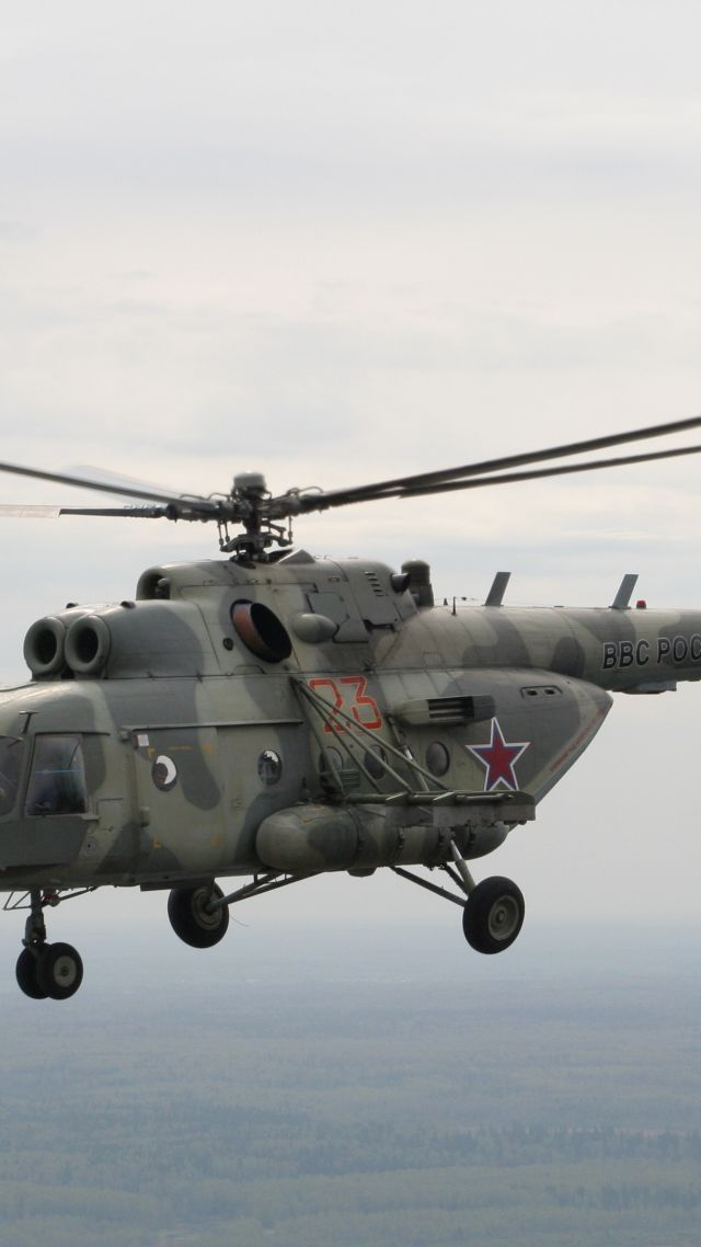 ... Russian army, fighter helicopter, air force, Russia (vertical