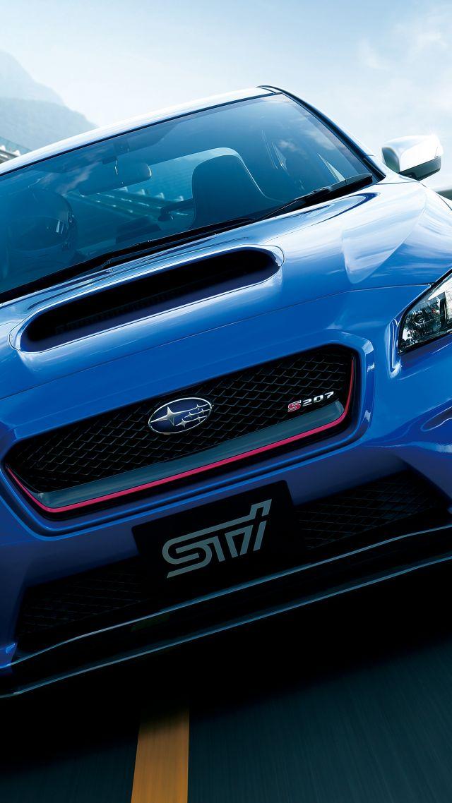 Wallpaper Subaru Wrx Sti S207 Blue Concept Tokyo Motor