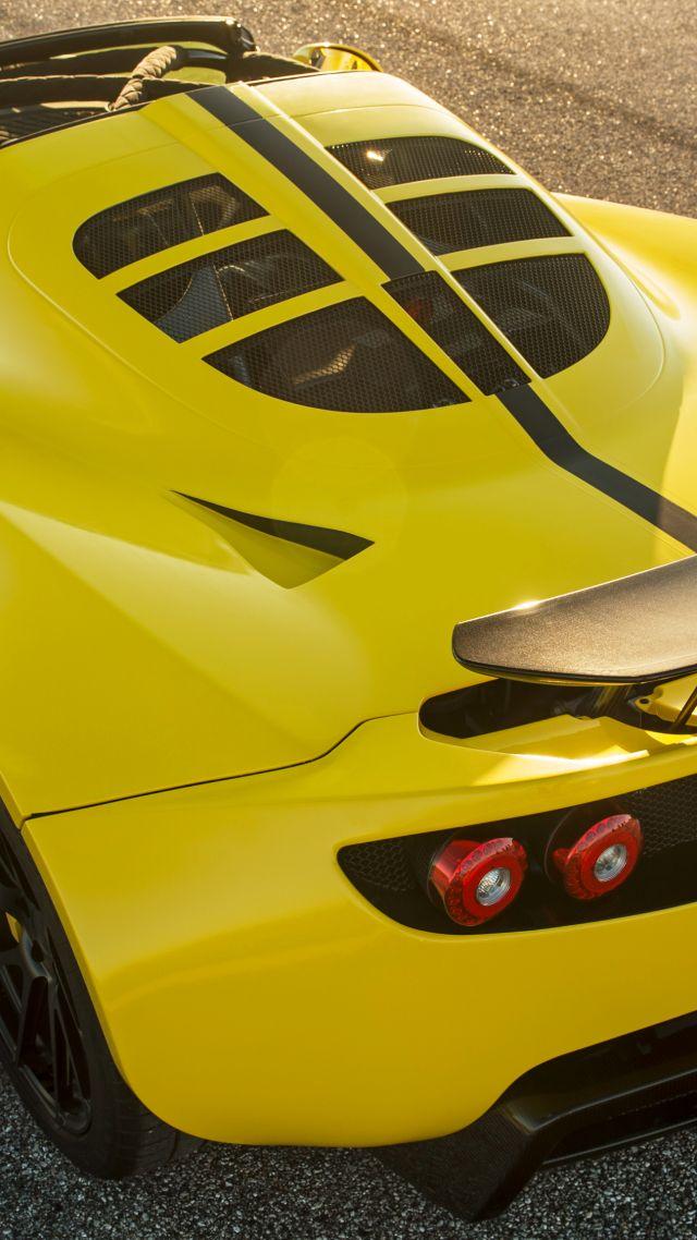 Wallpaper Hennessey Venom Gt Spyder Yellow Sport Car