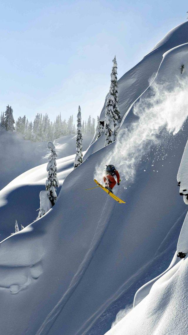 Skiing Alaska Heliskiing 5k 4k Wallpaper Haines USA Thomas Hlawitschka
