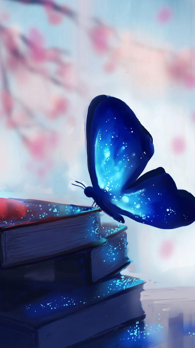 Wallpaper Butterfly Books Magic Art Animals 8233
