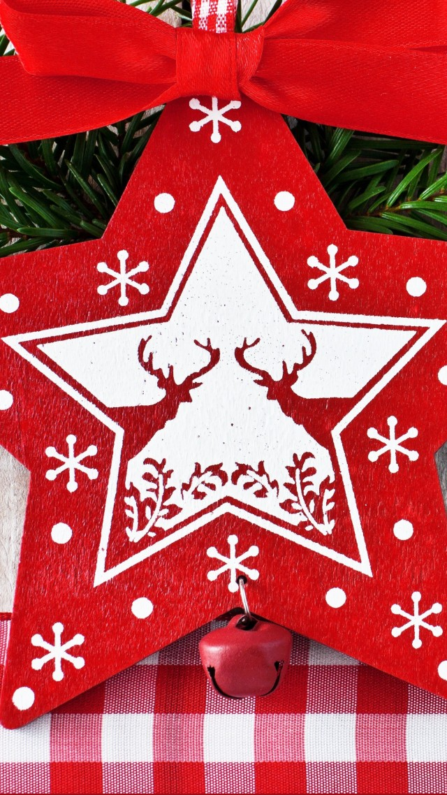 Christmas, decorations, star, card,  (vertical)
