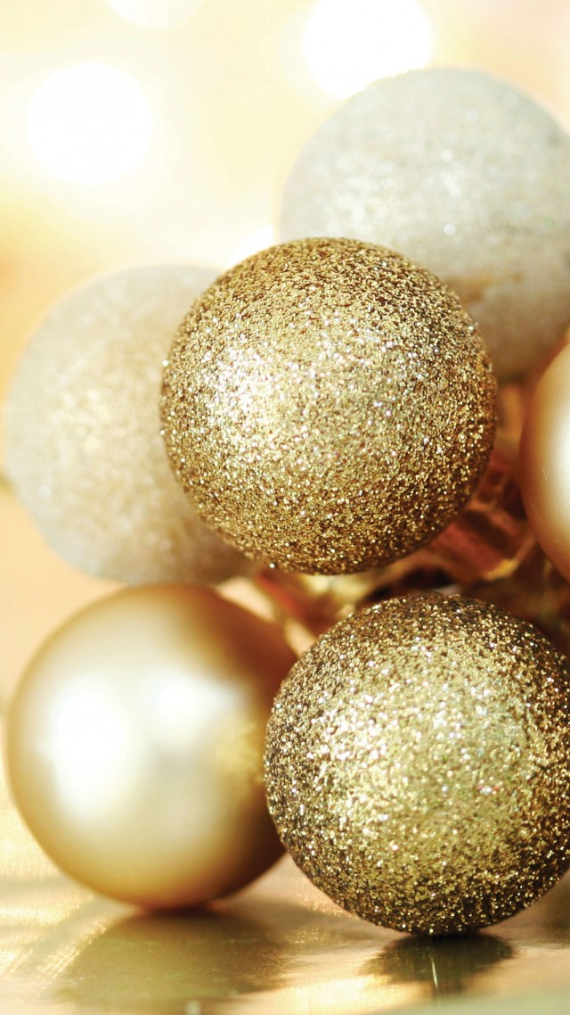 Christmas, New year, balls, decorations (vertical)