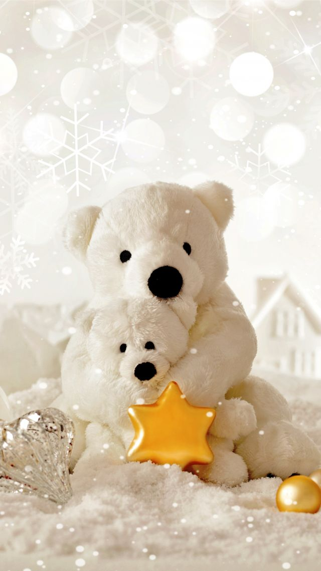 Christmas, New Year, Bear, decorations (vertical)