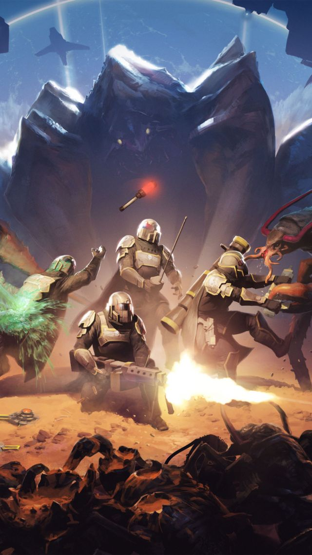 Helldivers, Best Games, shooter, sci-fi, game, PC (vertical)