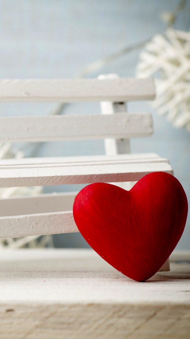 Valentine's Day, heart, decorations, romantic, love, bench (vertical)