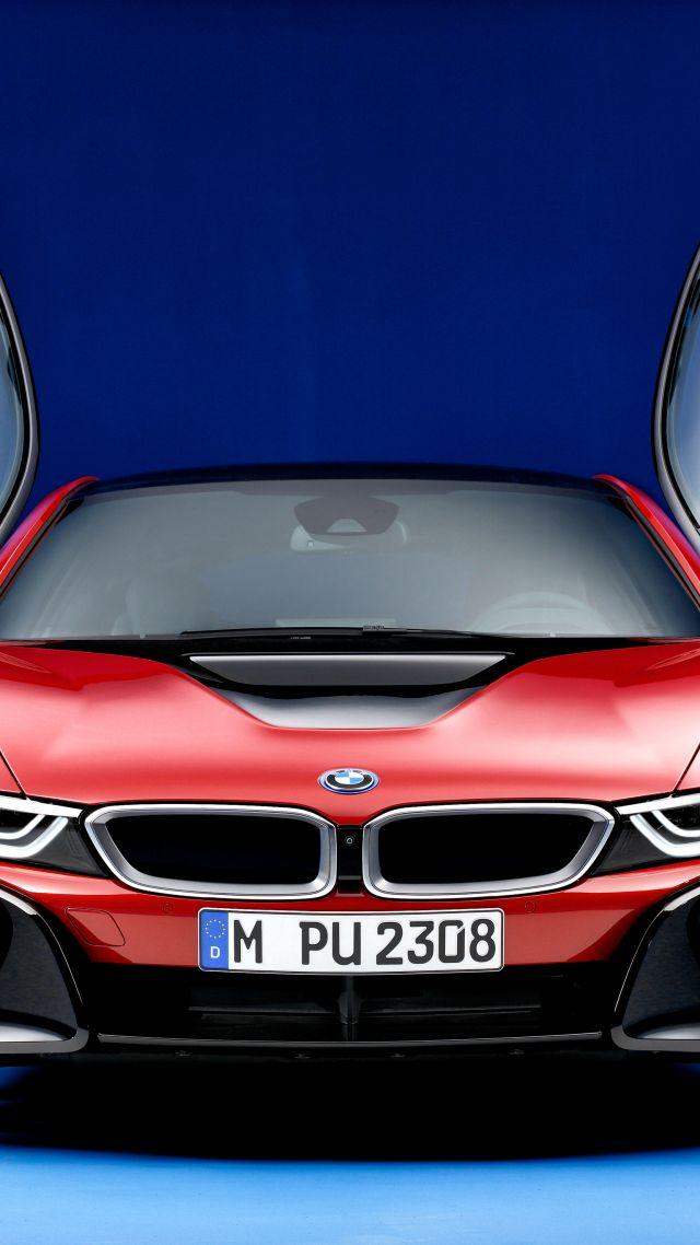 Wallpaper Bmw I8 Protonic Red Edition Geneva Motor Show