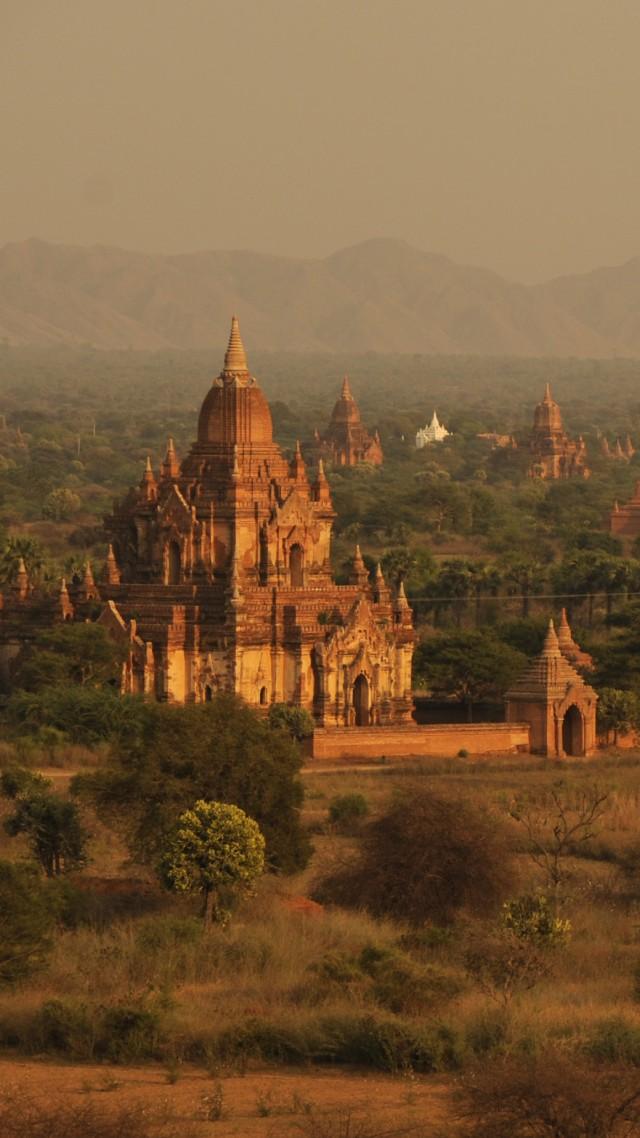 Wallpaper Bagan Temples Myanmar Travel Tourism Booking