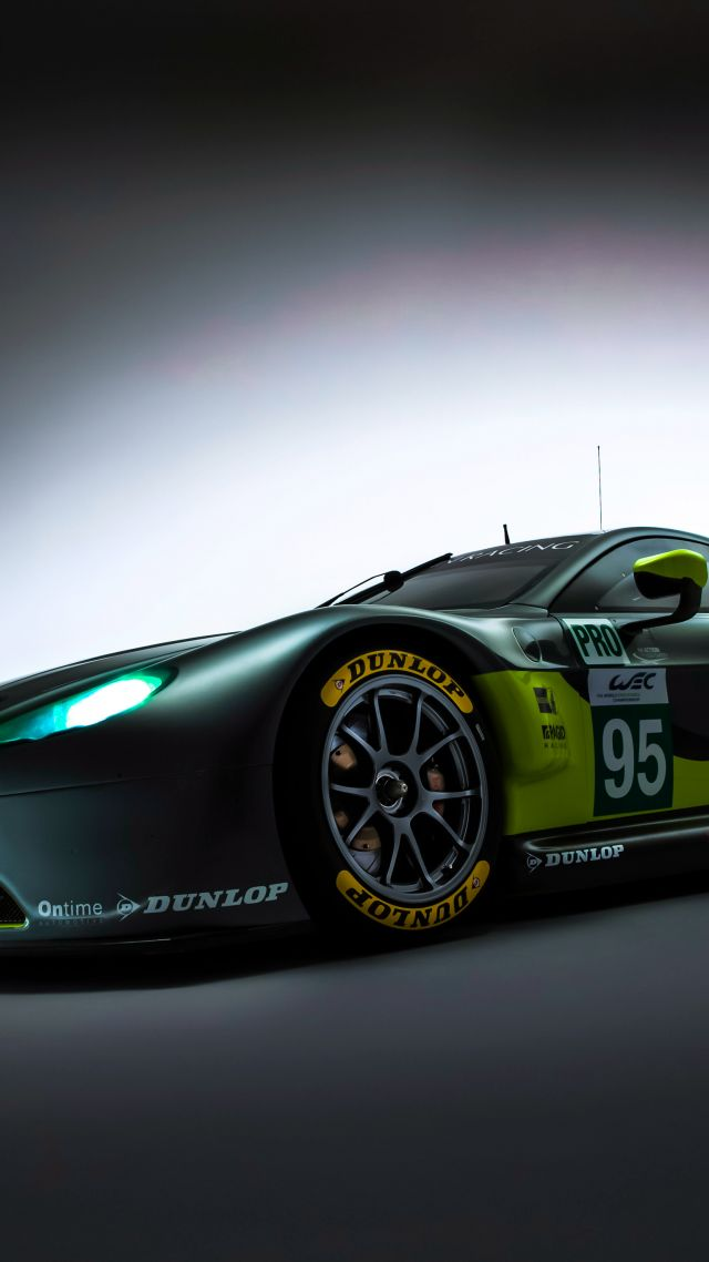 Aston Martin V8 Vantage GTE, racing cars (vertical)