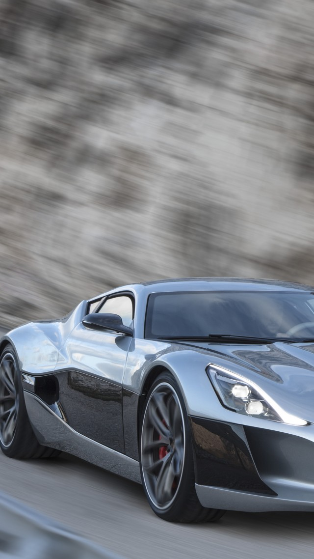 Rimac Concept One, Geneva Auto Show 2016, ultra-light super car, sport car, silver (vertical)