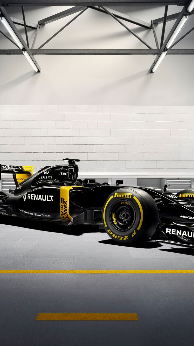 Wallpaper Renault Rs16 Formula 1 Testing Live From