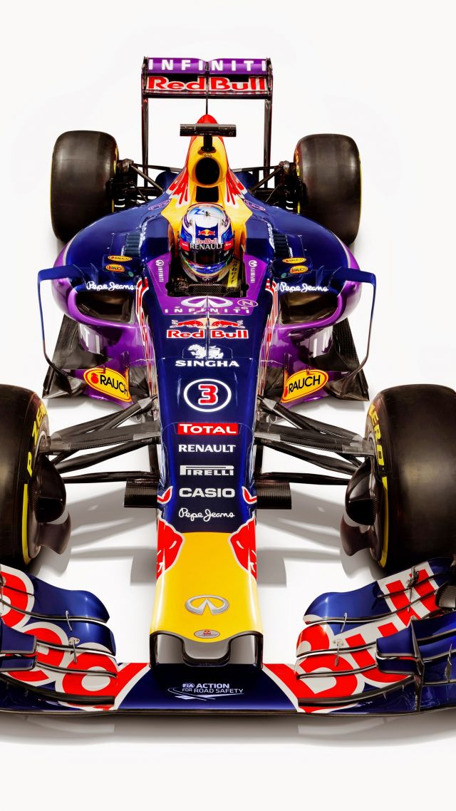 Red Bull RB12, Red Bull Racing, Daniel Ricciardo, Formula 1, LIVE from Barcelona, F1 (vertical)