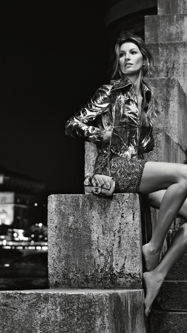 Wallpaper Gisele Bundchen, fashion model, Chanel 2015 ...