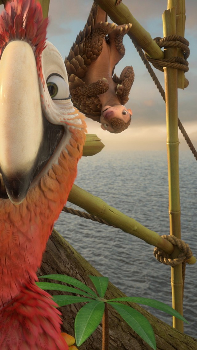 Robinson Crusoe, parrot, Best Animation Movies, cartoon (vertical)