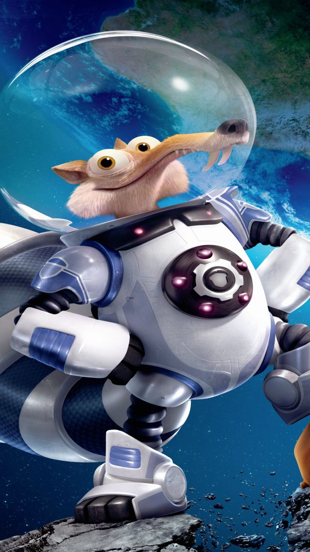 Ice Age 5: Collision Course, squirrel, best animations of 2016, space (vertical)