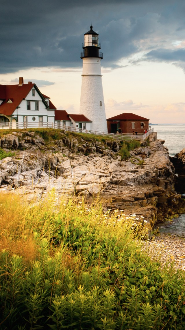 Portland Head Light 4k HD Wallpaper Cape Elizabeth Maine USA