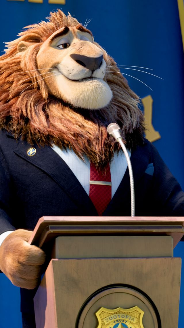 Zootopia, Mayor Lionheart, Lion, Best Animation Movies of 2016, cartoon (vertical)