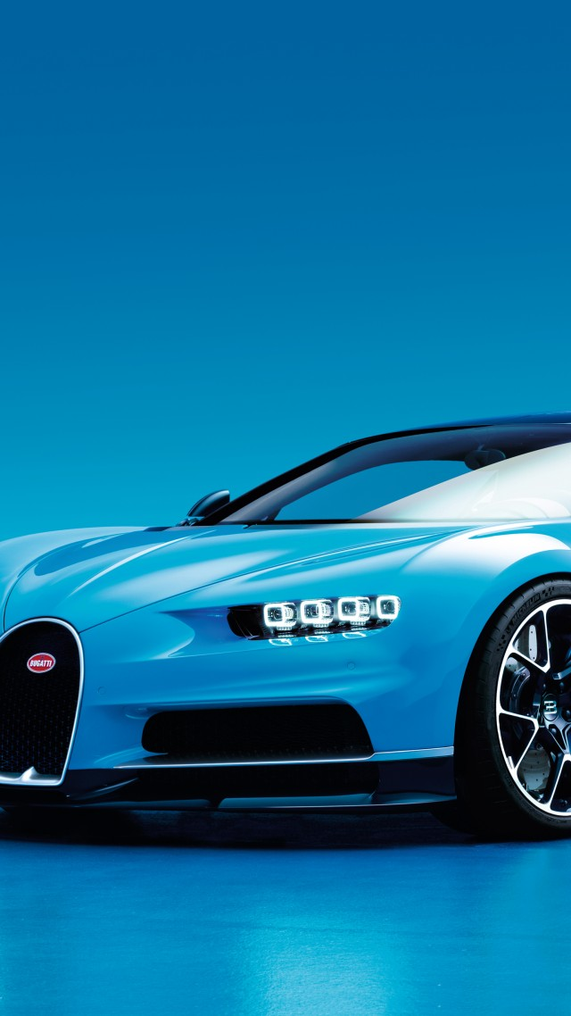 Wallpaper Bugatti Chiron Geneva Auto Show 2016 Hypercar Blue Cars Bikes 9086