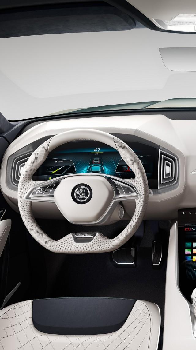 wallpaper skoda vision s geneva auto show 2016 interior cars bikes 9098. Black Bedroom Furniture Sets. Home Design Ideas