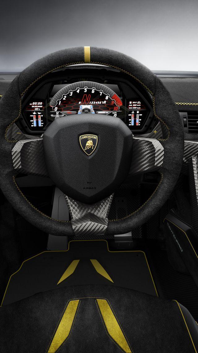 Lamborghini Centenario Geneva Auto Show 2016 Interior Vertical