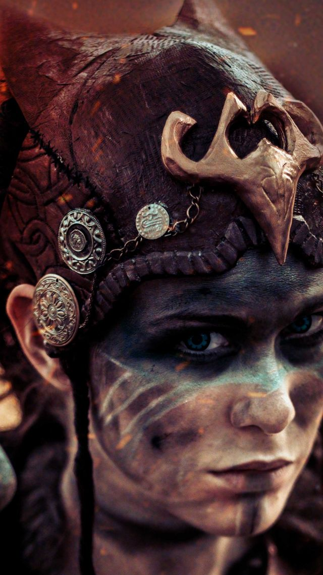 Hellblade, Senua, Best games, fantasy, PC, PS4, game (vertical)