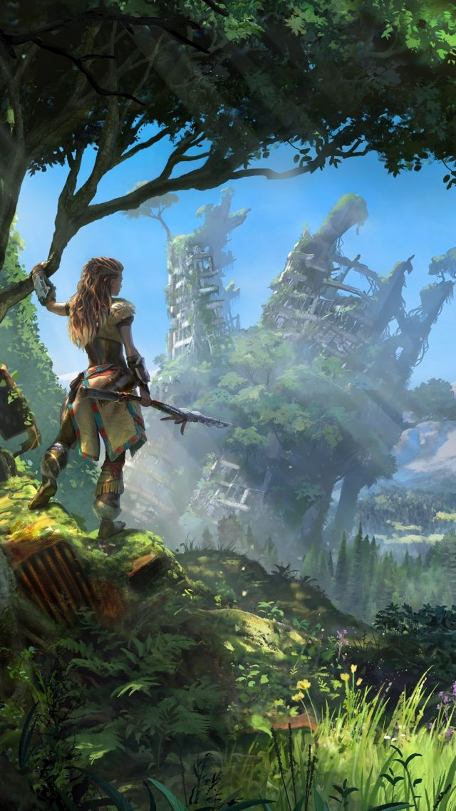Wallpaper horizon zero dawn action role playing playstation 4 xbox one windows best games - Wallpaper game hd android ...