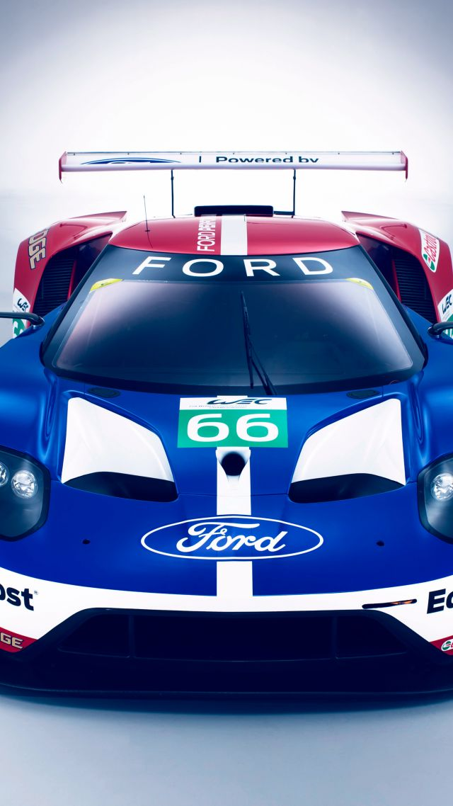 Ford Gt Race Car  Hours Of Le Mans Vertical
