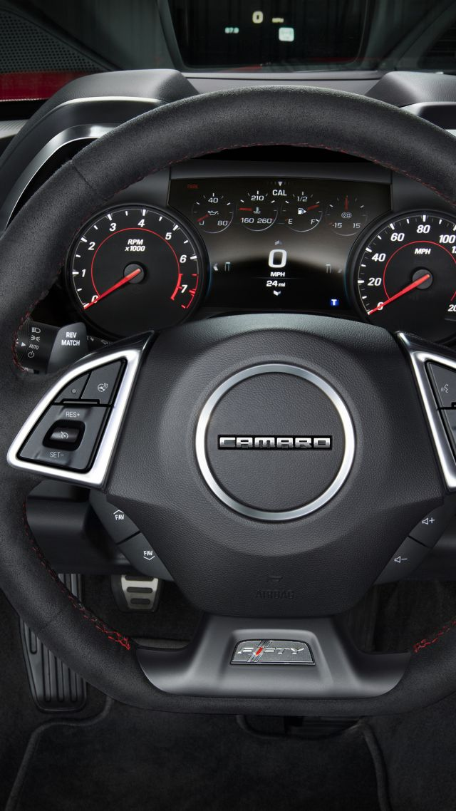 Wallpaper Chevrolet Camaro Zl1 Nyias 2016 Interior Cars
