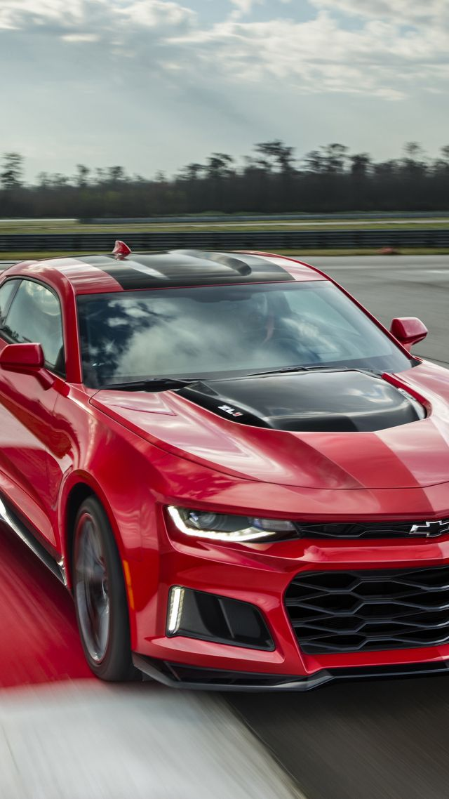 Wallpaper Chevrolet Camaro Zl1 Nyias 2016 Red Cars